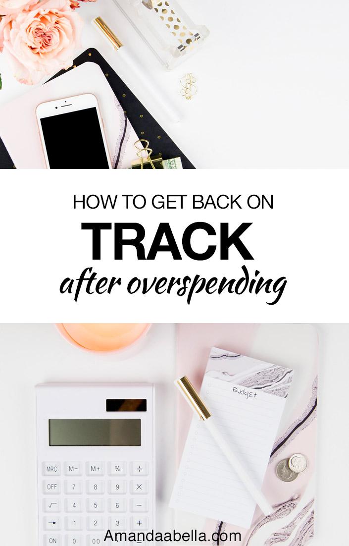 back on track after overspending
